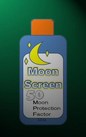 A bottle of MPF 50-rated moonscreeen