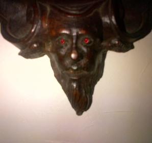 Detail of the demonic hall tree