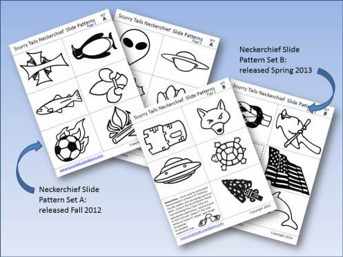Shots of all current neckerchief slide templates available