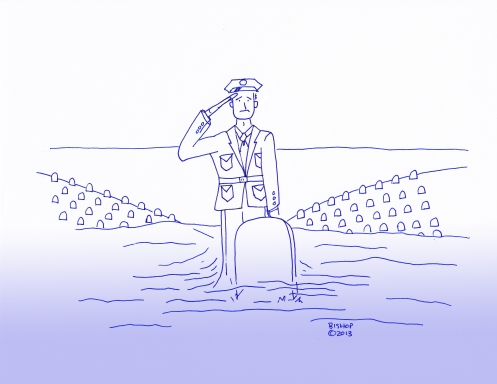 Soldier gives final salute at grave side