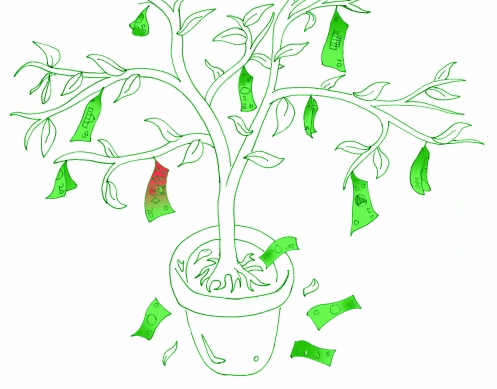 A household money tree. Money perhaps CAN grow on trees!