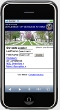 Mobile device showing National Gravesite Locator