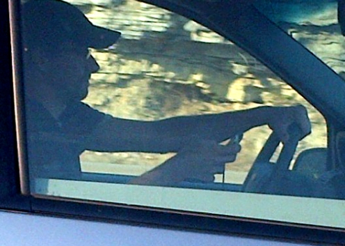 Man busted on the highway texting and driving
