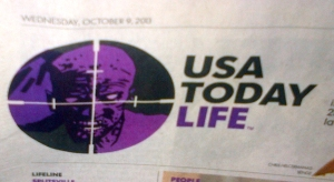USAToday Life section shows a zombie in the crosshairs