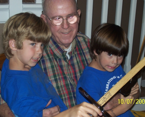 Grandpa Shannon and Mitchell and Christopher