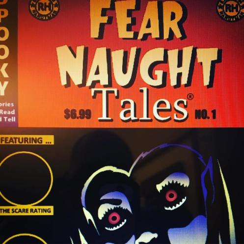 "Partially revealed cover art for ""Fear Naught Tales"" collection of spooky stories to read and tell!"
